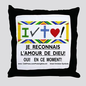 Francais: Je Reconnais! Throw Pillow