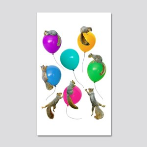 Squirrels Balloons 20x12 Wall Decal