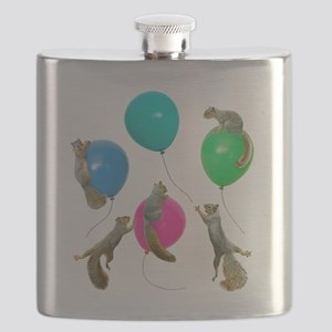 Squirrels Balloons Flask