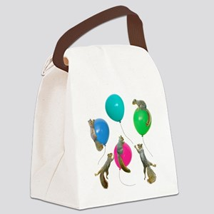 Squirrels Balloons Canvas Lunch Bag