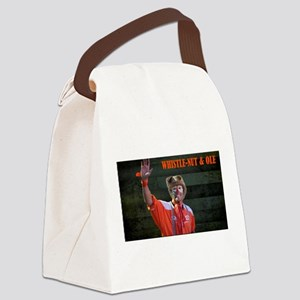 Whsitle-Nut Image Canvas Lunch Bag