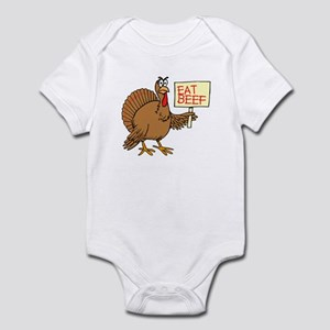 Thanksgiving Eat Beef Infant Bodysuit