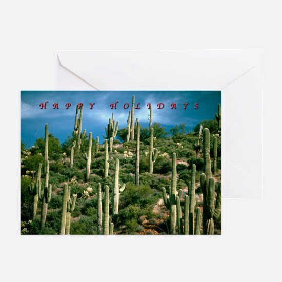 Many Saguaros Holiday Greeting Cards
