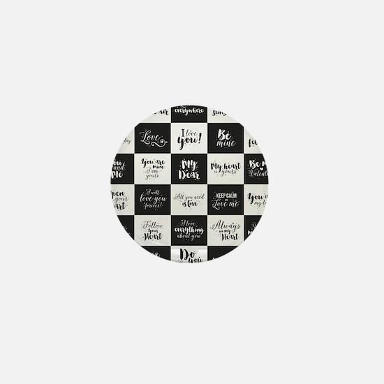 Love Black&White Mini Button