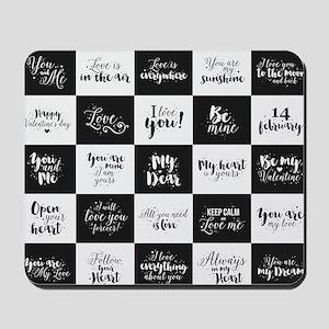 Love Black&White Mousepad