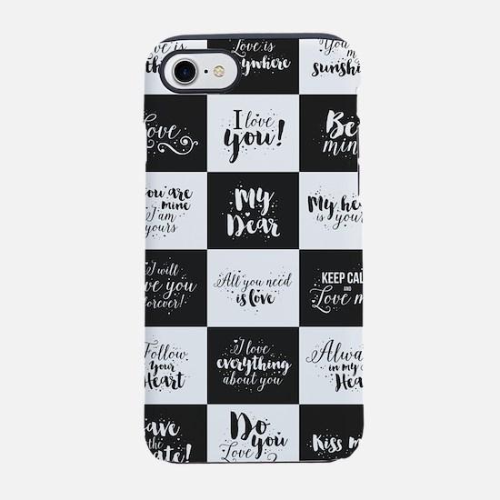 Love Black&White iPhone 7 Tough Case