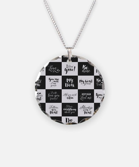 Love Black&White Necklace