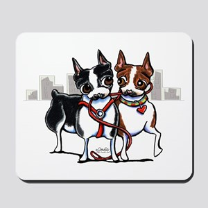 Bostons in the City Mousepad