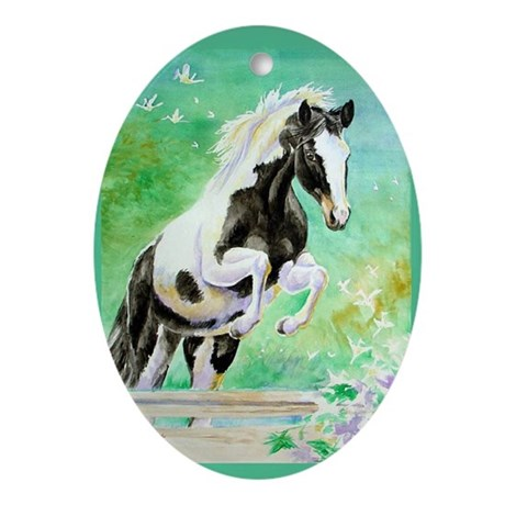 Pinto Pony Oval Ornament