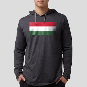 Flag of Hungary - Magyarorsz&#22 Mens Hooded Shirt