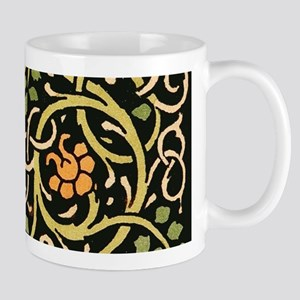 William Morris Black Floral Art Print Design Mugs