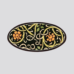 William Morris Black Floral Art Print Design Patch