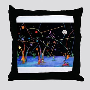 At Night They Sing Throw Pillow