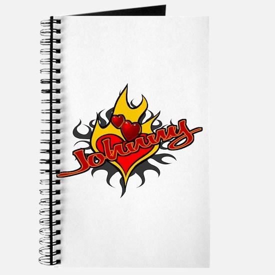 Johnny Heart Flame Tattoo Journal