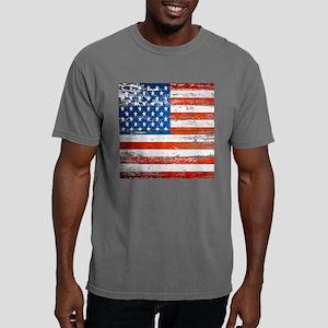 Primitive barnwood Ameri Mens Comfort Colors Shirt