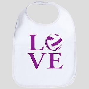 Painted love netball Baby Bib