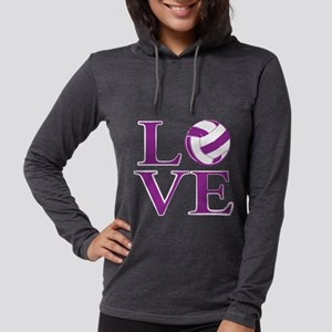 Painted love netball Womens Hooded Shirt