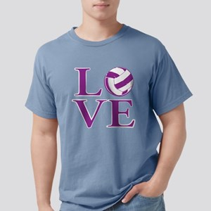 Painted love netball Mens Comfort Colors Shirt