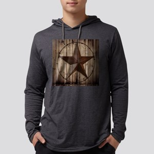 western texas star wood grain ba Mens Hooded Shirt