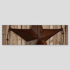 western texas star wood grain barn Bumper Sticker