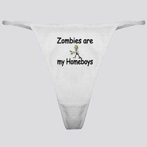 Zombies Are My Homeboys Classic Thong