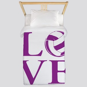Painted love netball Twin Duvet Cover