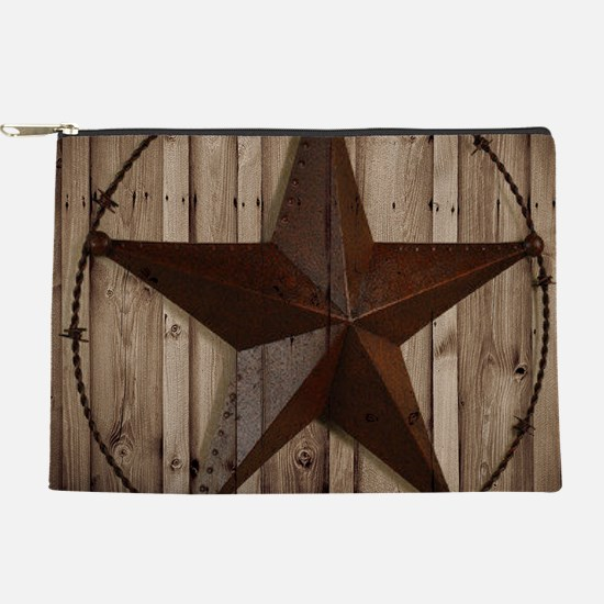 western texas star wood grain barn wo Makeup Pouch