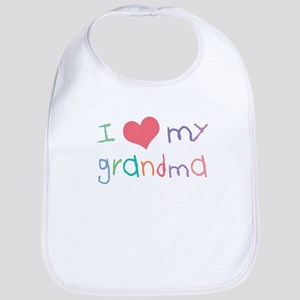 Kids I Love My Grandma Bib
