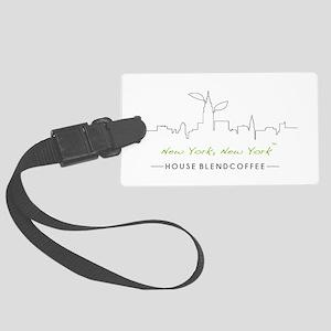 New York New York Coffee Luggage Tag