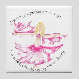 Bellydancer Superhero Tile Coaster