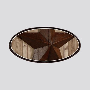 western texas star wood grain barn wood Patch