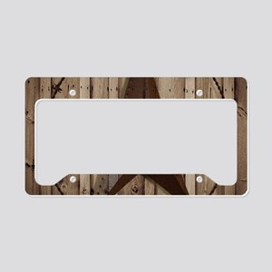 western texas star wood grain License Plate Holder