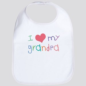 I Love My Grandpa Bib