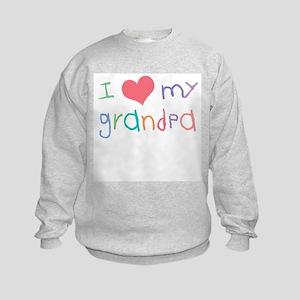I Love My Grandpa Kids Sweatshirt