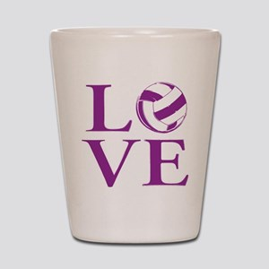 Painted love netball Shot Glass