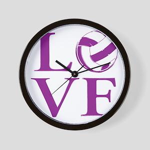 Painted love netball Wall Clock