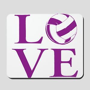 Painted love netball Mousepad