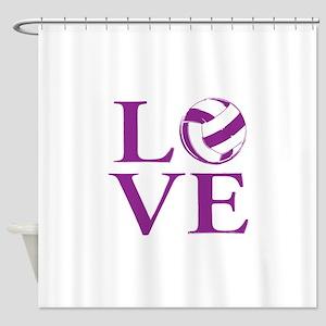 Painted love netball Shower Curtain