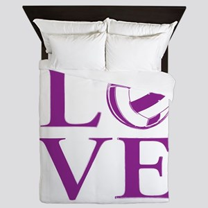 Painted love netball Queen Duvet