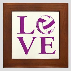 Painted love netball Framed Tile