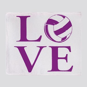 Painted love netball Throw Blanket
