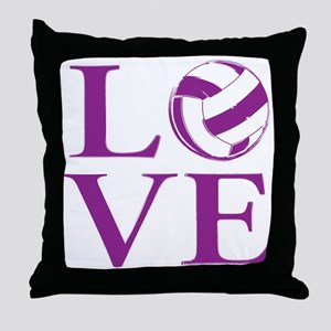 Painted love netball Throw Pillow