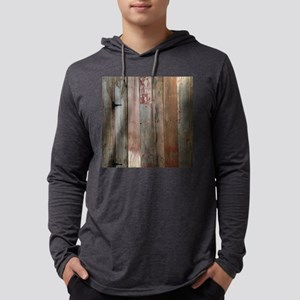 rustic western barn wood Mens Hooded Shirt