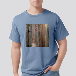 rustic western barn wood Mens Comfort Colors Shirt