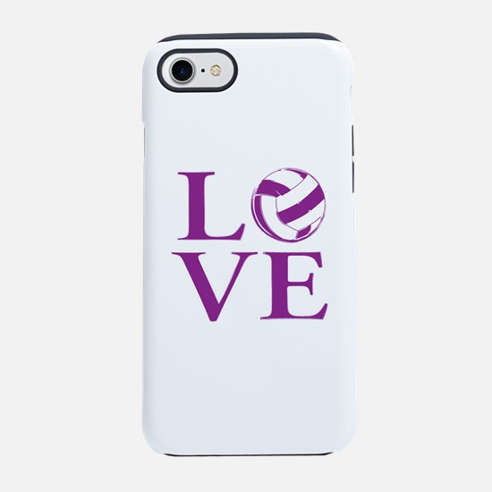 Painted love netball iPhone 7 Tough Case