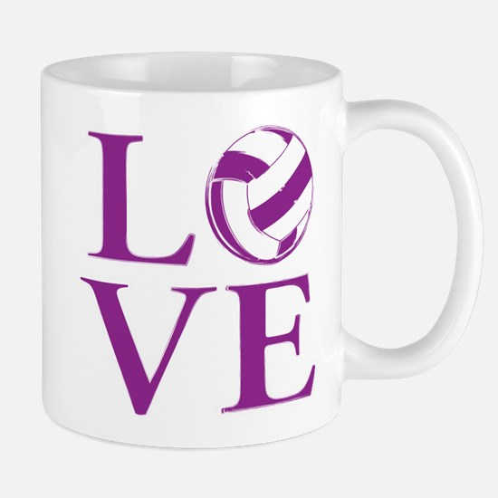 Painted love netball Mugs
