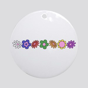 LDS YW Flowers Ornament (Round)