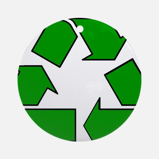 Reuse, recycle, Reduce Ornament (Round)