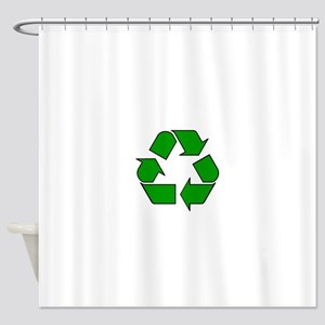 Reuse, recycle, Reduce Shower Curtain