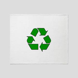 Reuse, recycle, Reduce Throw Blanket